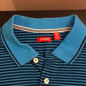 NWT IZOD Men's Striped Blue Shirt